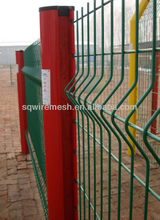 PVC coated Peach Column Fence(factory manufacture)