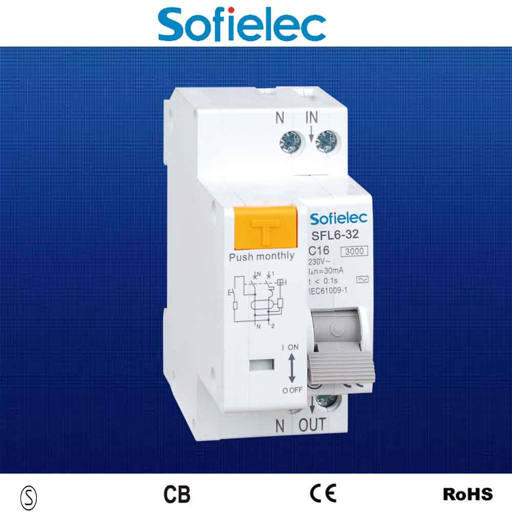 1p N Electronic Vh Type Residual Current Circuit Breaker With Rcbo Wiring Diagram Overcurrent Protection Rccb Sfl5 40