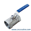 1PC Body Reducer Bore Screwed Ball Valve