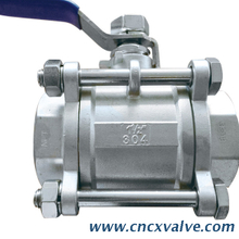 3 Piece Screwed End Ball Valve