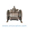 3PC Flanged End Stainless Steel Ball Valve