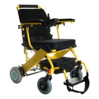 WFT-D07 Foldable Lightweight Lithium Electric Power Wheelchair Yellow