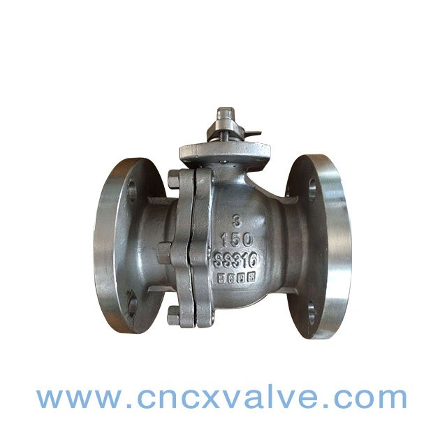 2PC Flanged Cast Steel Floating Ball Valve