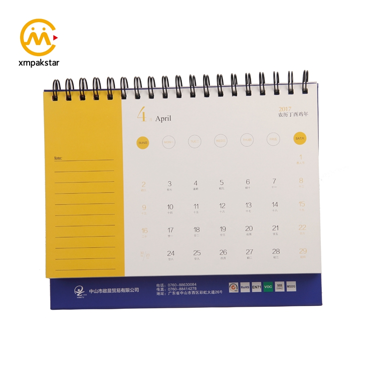 2018 new table printing calendar planner