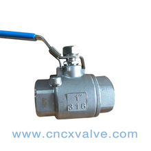 2PC Screwed End Ball Valve