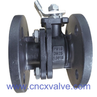 2PC Ball Valve Flanged End With Mounting Pad DIN PN16 Or PN40