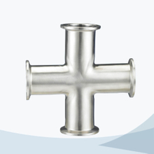 Sanitary hygienic pipe fitting clamped cross
