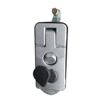 HC-B-10048-1 Black Silver Side Door Handle Lock Bus Security Lock