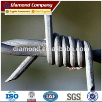 hot dipped 14 gauge galvanized barbed blade wire