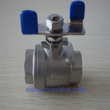 2pc Ball Valve with Butterfly Lever