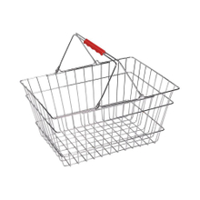 Classic Design Wire Shopping Basket with 2 Handles For Supermarket