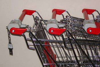 Is the supermarket trolley charged? It was for easy recycling.