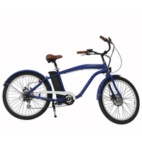 New man beach cruiser electric bike en15194 bicycle pedal assisted e-bike