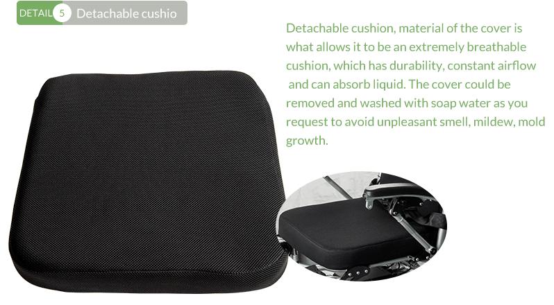 8 folding electric wheelchair detachable cushio