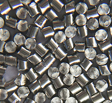Stainless steel cut wire shot for cleaning and peening