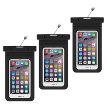 Custom mobile phone case waterproof pouch bag, cell phone dry bag waterproof phone bag for devices up to 6.0""