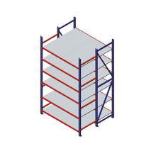 Warehouse Storage Stackable Pallet Shuttle Rack with Beams