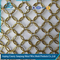 Chain braid ring mesh for building exterior and interior decoration