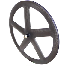 Free shipping 5 spoke track carbon wheels front wheels rear wheels 55mm depth