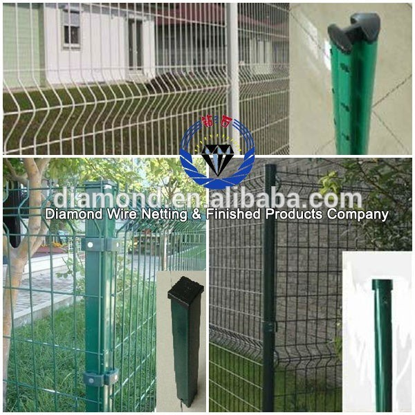 ISO certification welded wire fence panels/Green Vinyl Coated Welded ...