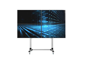 Universal Video Wall Stand for 2X2 Video Walls