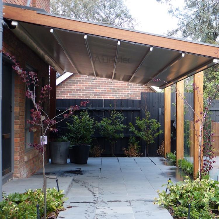 PVC Retractable Roof Aluminum Pergola - PVC Retractable Roof Aluminum Pergola - Buy Pvc Retractable Roof