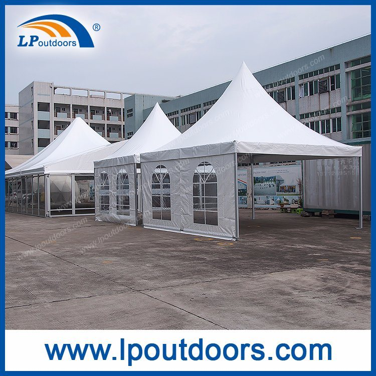 5X5m Outdoor Aluminum White PVC Tent Pagoda Gazebo for Wedding