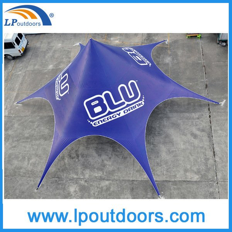 Dia 16m Customized Imprint Logo Beach Star Tent