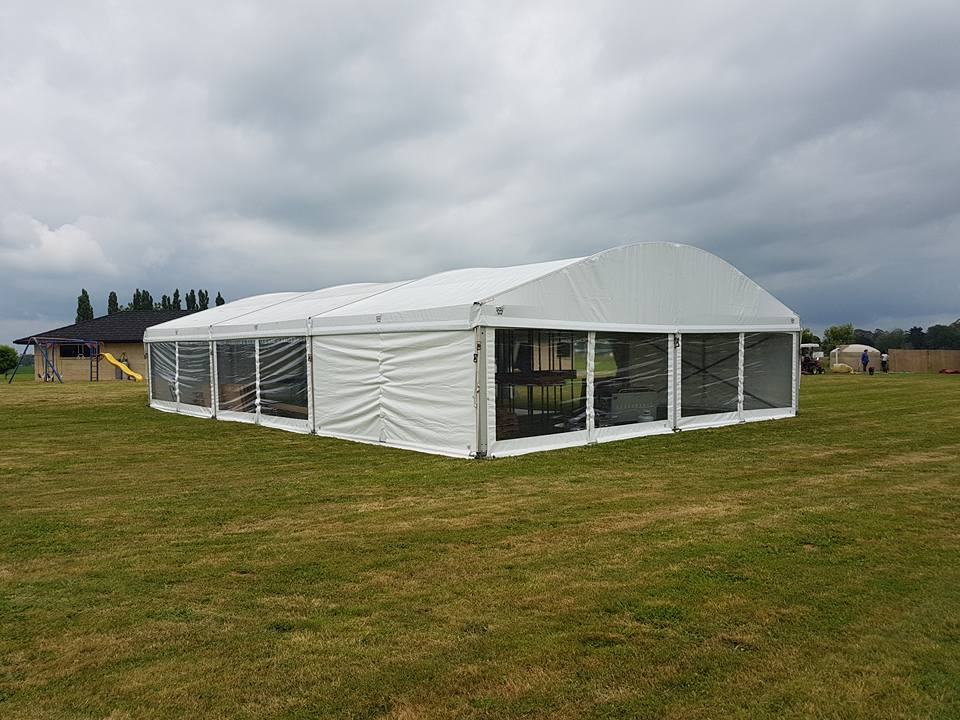 10m Clear Span Aluminum Curved Party Tent