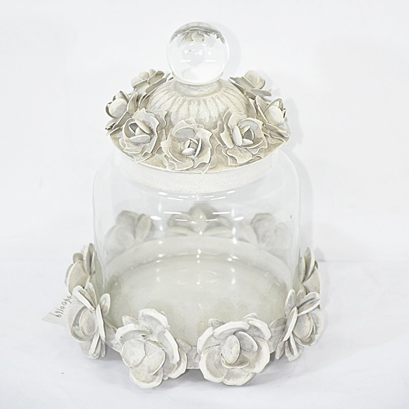Small Decorative Bottles Wholesale: Rustic Small Storage Decorative Glass Jars With Lids