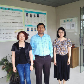 Customer visit from India for Roof Roll Forming Machine