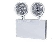 Heavy duty steel case with white powder coated finish emergency light