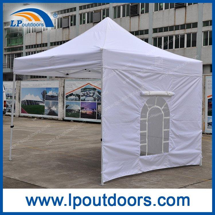 3x3m White folding tent with windows Pop up Canopy for outdoor event