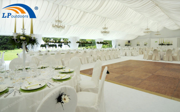 Let Aluminum Outdoor Large Wedding Marquee Tent With White Lining Help You Dream Come