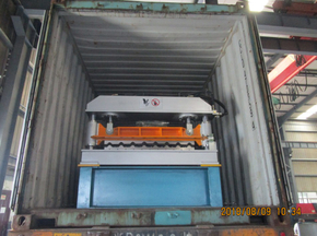 Delivery of R101 Roof Panel Roll Forming Machine to American