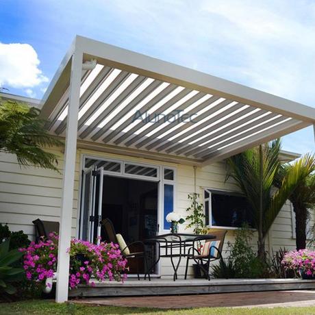 Luxury Electric Aluminium Pergola Louvered Patio Cover Systems