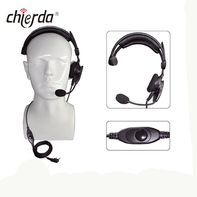 Chierda CD-300R Helmet-Conduction Type Noise Cancelling Headset for Transceiver And Walkie Talkie