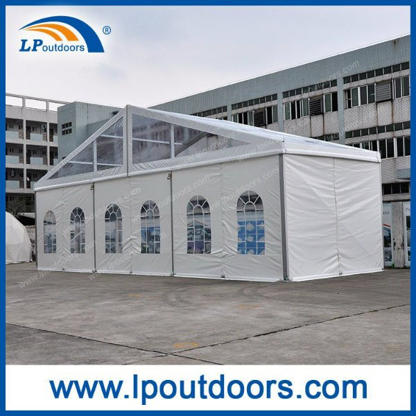 Outdoor Transparent Roof Cover 15m Clear Span Marquee Tent for 500 Capacity Party