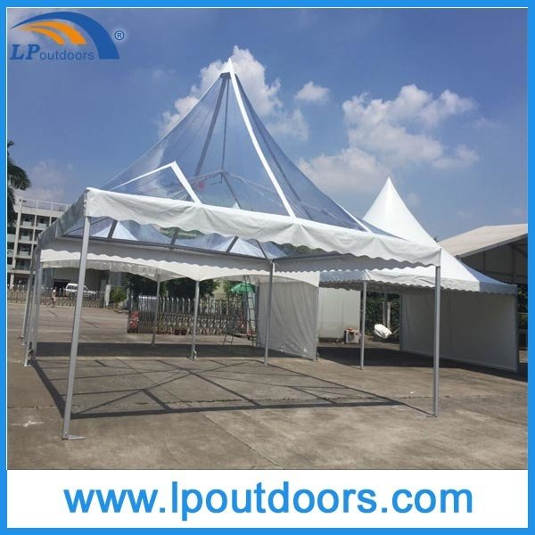 6X6m Outdoor Aluminum Pagoda Transparent Marquee Gazebo for Wedding