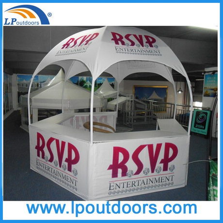 Outdoor Hexagonal Colorful Logo Imprint Display Counter