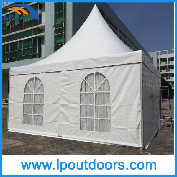 Lp Outdoors Luxury Aluminum Frame Wedding Marquee Pagoda White PVC Tent