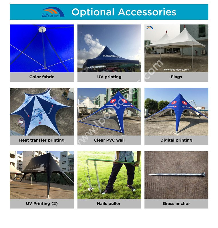 Outdoor Customs Logo Printing Canopy Tent Star Shade