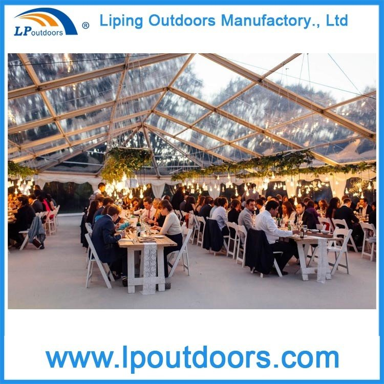 Outdoor Clear PVC Luxury Party Tent with Lining for Wedding Event
