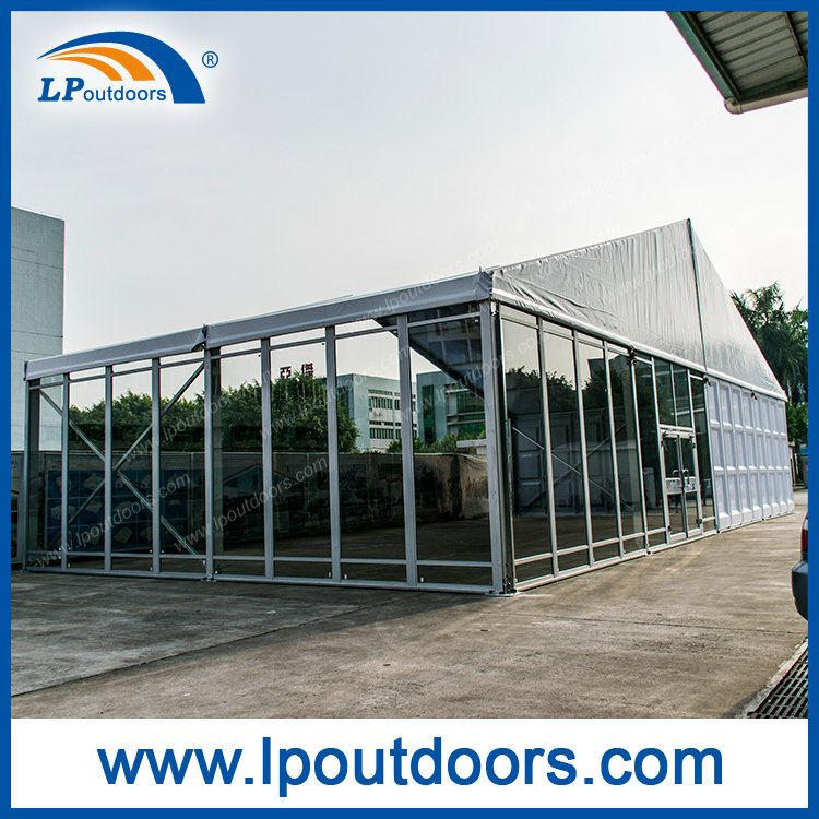 Outdoor Large Glass Panel with Door Exhibition Tent for Event