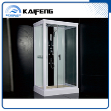 Compact Glass Shower House with Folding Seat