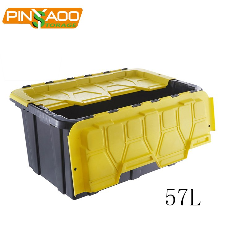 57L Stackable Nestable Garden Use Heavy Duty Plastic Storage Box