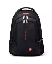 High Quality Large Capacity Nylon Swiss Gear Black Backpack