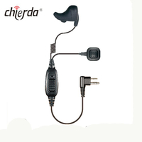 Chierda E95B-M Bone Conduction Type Walkie Talkie Earphone Speaker Suitable for GP-328 GP-338 DP-340