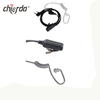 Chierda E75G-K Transparent Tube Type Walkie Talkie Headset Air Conduit with PTT Noise Cancelling Walkie Talkie Earpiece