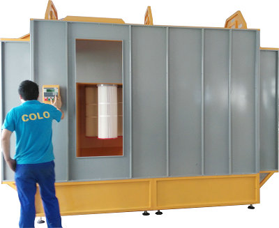 Powder coating spray booth COLO-3212